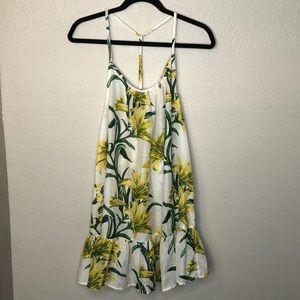 ASOS Lily Print T Back Beach Dress
